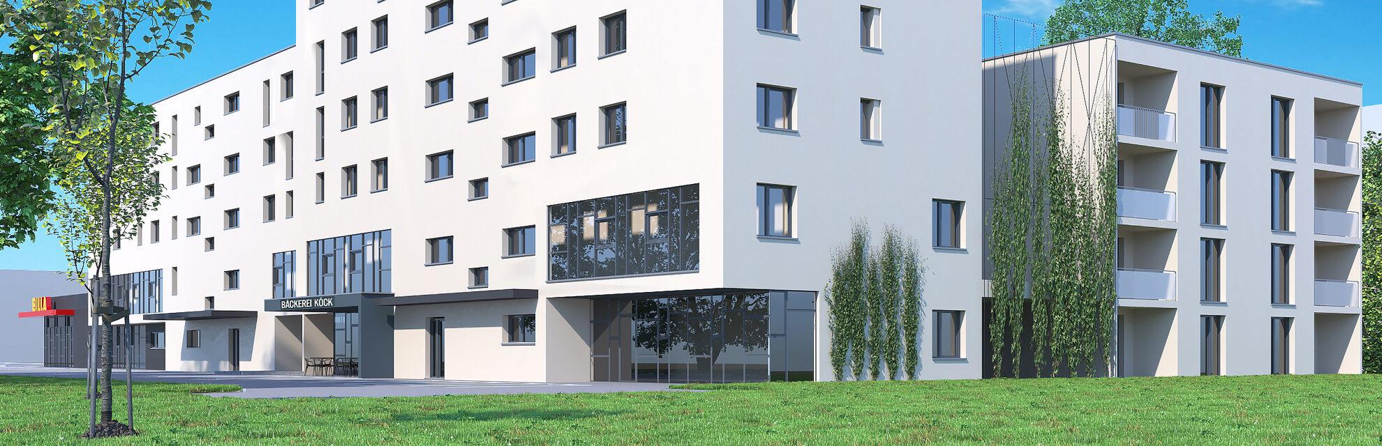 Wohnbau C - Ansicht Gewerbe